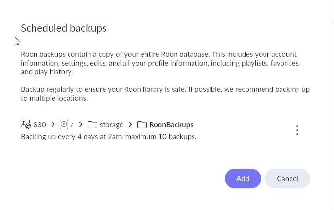 backup should look like this